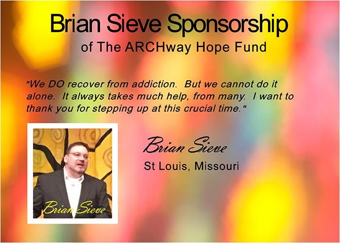 The Brian Sieve Sponsorship