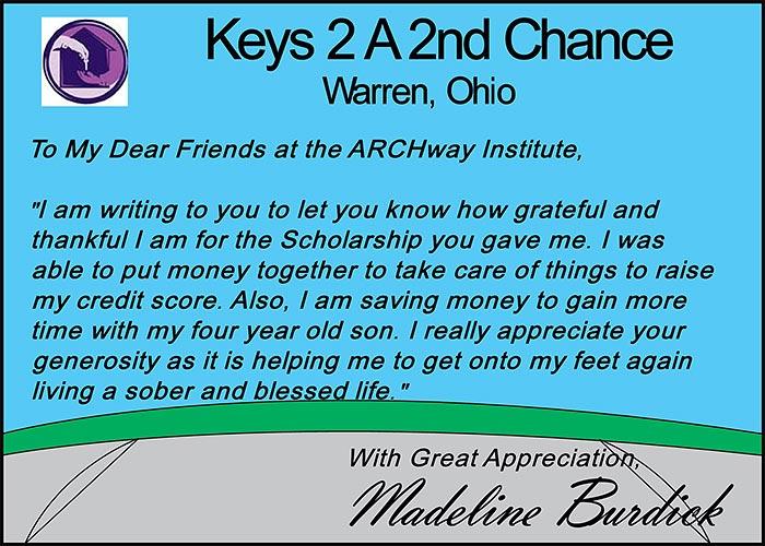 Keys 2 A 2nd Chance – Warren, Ohio
