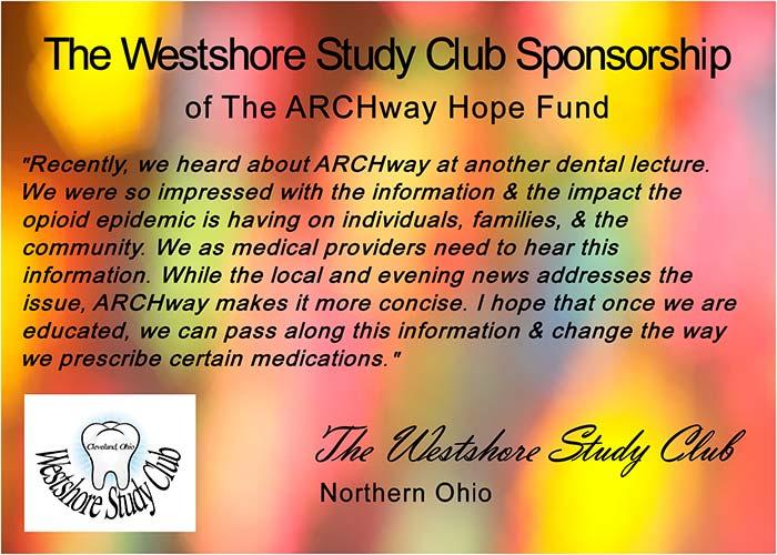 The Westshore Study Club Sponsorship