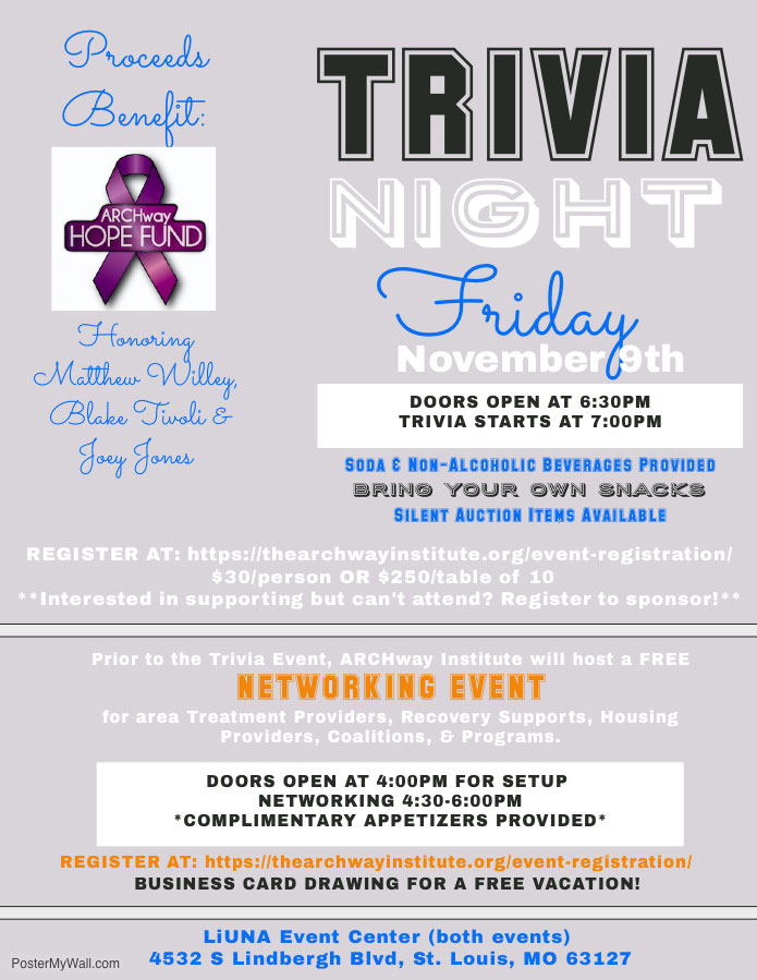 Trivia Night & Networking Event Flyer