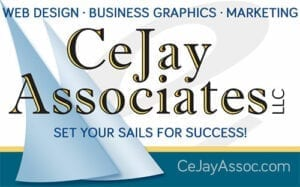 Logo for CeJay Associates Web Design, Business Graphics, Internet Marketing