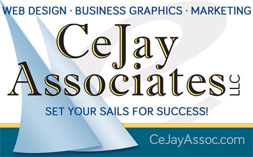 Logo for CeJay Associates: Web Design, Business Graphics, Internet Marketing