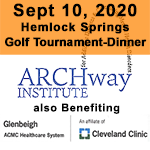 Sept 10, 2020 Hemlock Springs Golf Tournament Logo ARCHway Institute