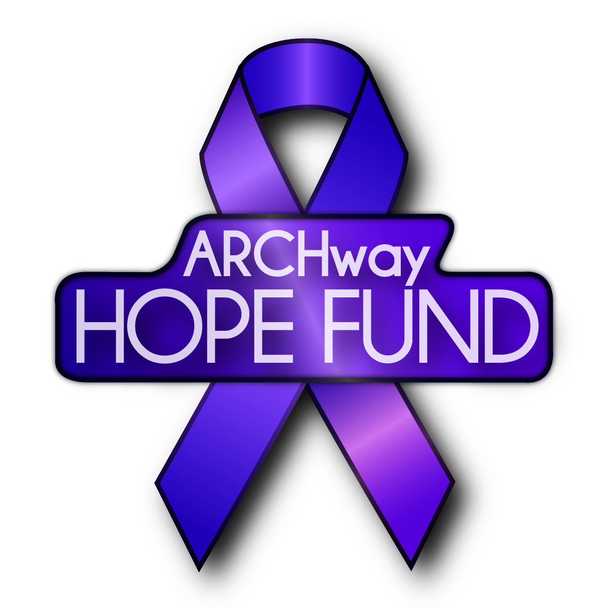 ARCHway HOPE Fund logo,purple ribbon