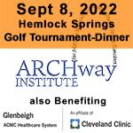 Sept 8, 2022 Hemlock Springs Golf Tournament logo, ARCHway Institute