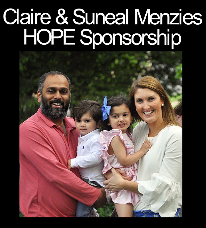 Clair & Suneal Menzies HOPE Fund Sponsorship