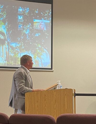 Punta Gorda City Council Proclamation of ARCHway Day, Dan Stuckey presenting ARCHway's area successes