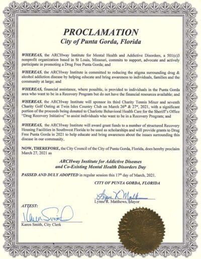 Punta Gorda City Council Proclamation of ARCHway Day