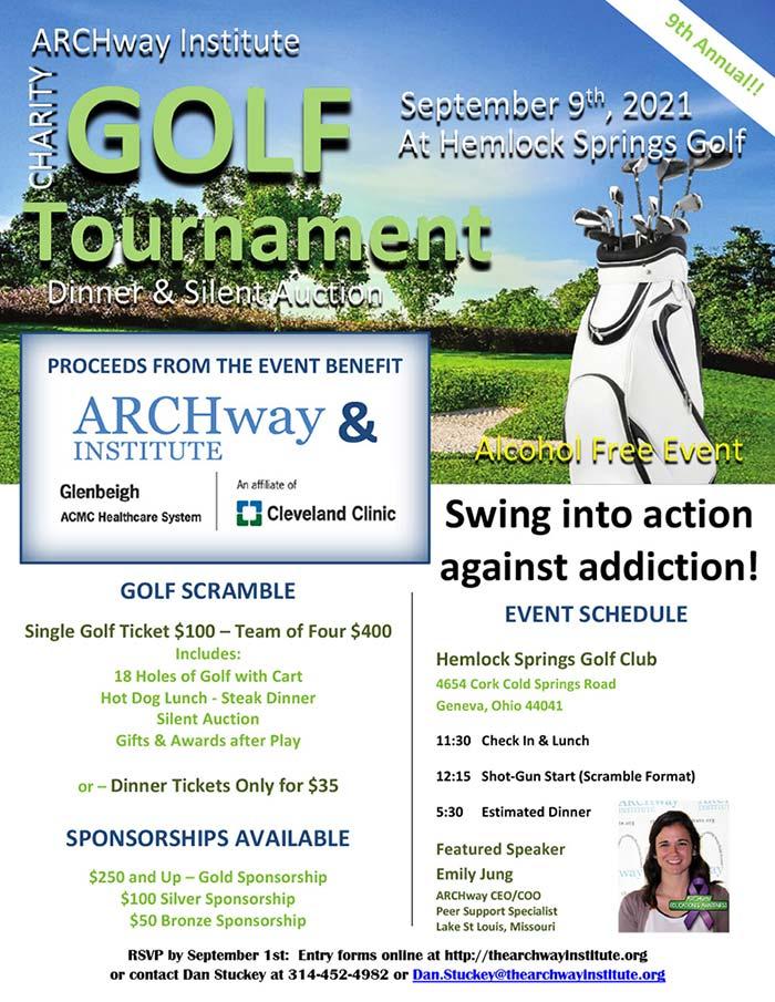 2021 ARCHway Institute, Geneva Ohio Golf Tournament