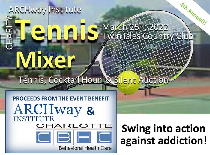 ARCHway Institute 2022 Florida Tennis Mixer banner