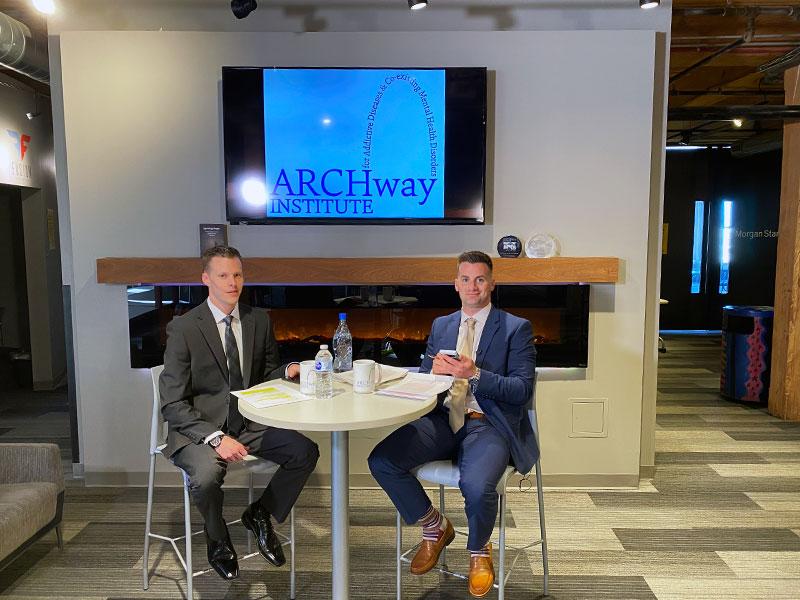 2021 ARCHway Virtual Gala, video production, Colton & Jordan on set