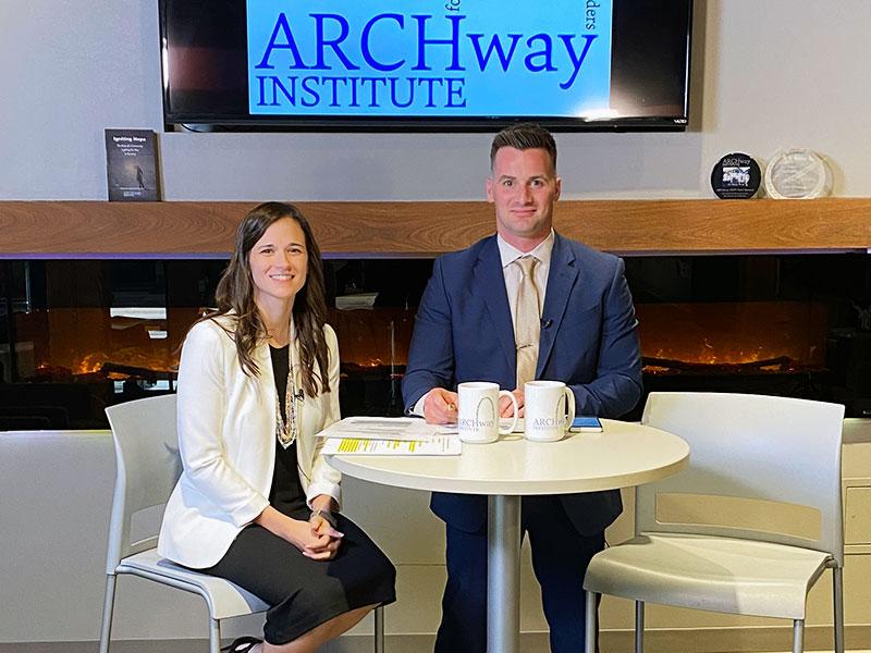 2021 ARCHway Virtual Gala, video production, Emily & Jordan on set